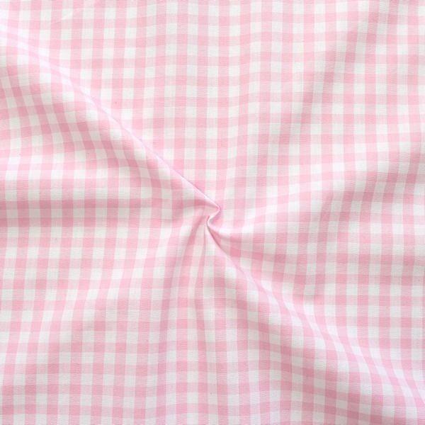 """Baumwollstoff Hemden Qualität Vichy """"Karo mittel"""" Farbe Rosa-Weiss"""