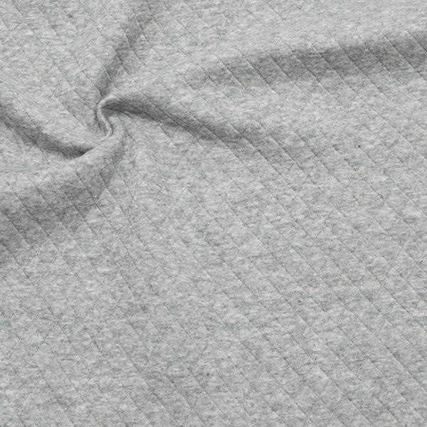 Modestoff Dekostoff Stepp-Optik Rauten Klein Hell-Grau meliert