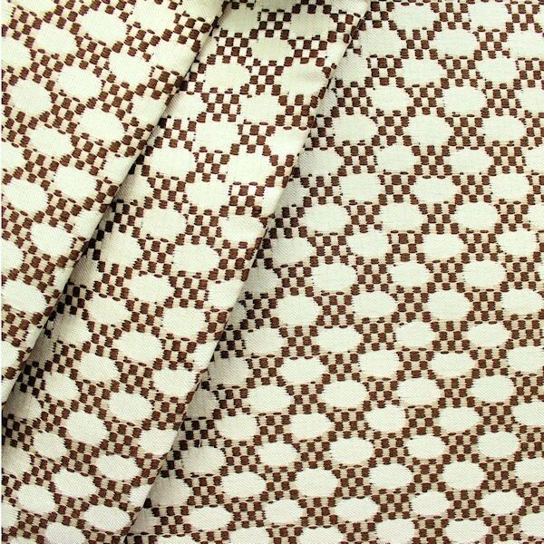"""Polster-/ Outdoorstoff """"Exclusive Dots"""" Farbe Creme-Weiss Braun"""