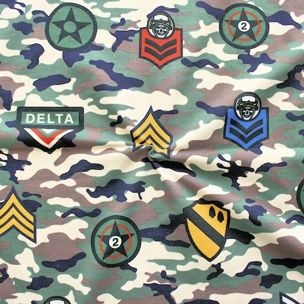 "Sweatshirt Baumwollstoff French Terry ""Army Camouflage"" Multicolor"