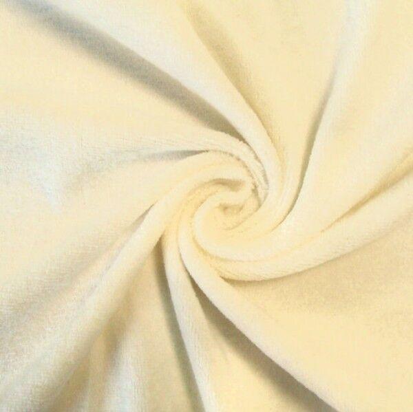 Nicki Baumwollstoff Farbe Creme-Weiss