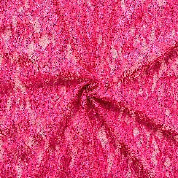 "Spitzenstoff ""Classic Flower"" Farbe Pink"