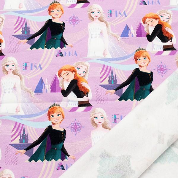 Lizenz Sweatshirt Baumwollstoff French Terry Frozen Rosa