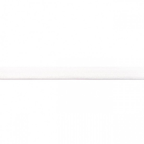 2m Elastikband Breite 10mm Farbe Creme-Weiss