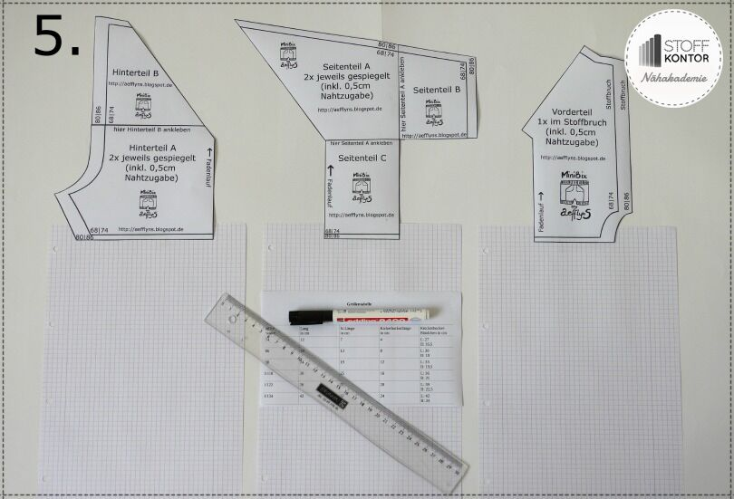 Schnittmuster Kinderhose berechnen