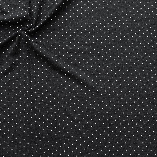 Viskose Stretch Jersey Mini Punkte Schwarz