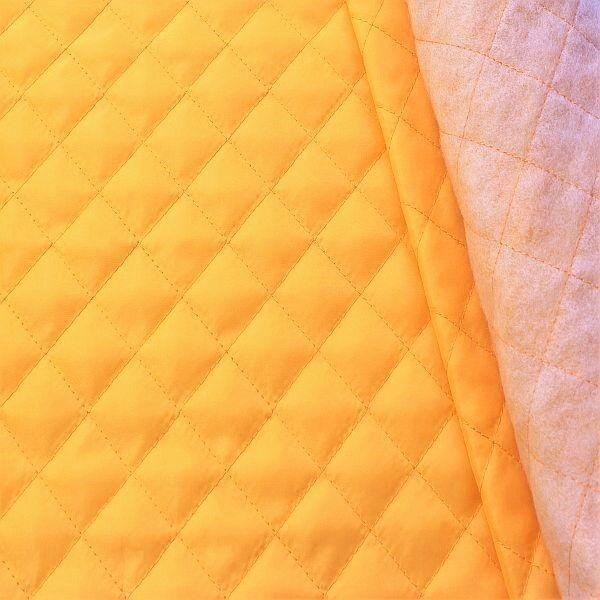 Steppstoff Futterstoff wattiert Rauten Klassik Gelb