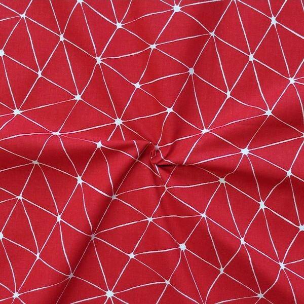"100% Baumwollstoff ""Origami"" Farbe Rot"