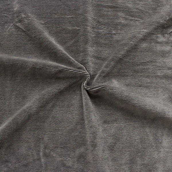 Cord Jersey Dunkel-Grau