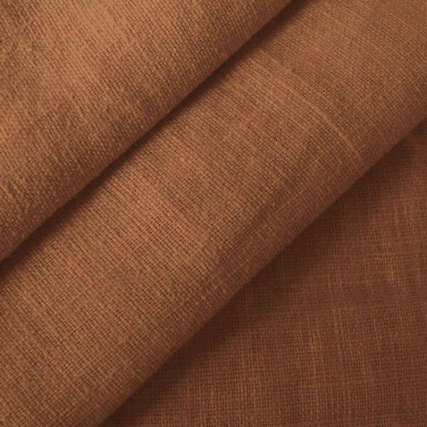 100% Leinen Stoff Artikel Barcelona, Farbe Mittel-Braun