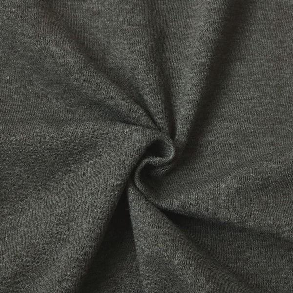 Sweatshirt Baumwollstoff Melange Dunkel-Grau