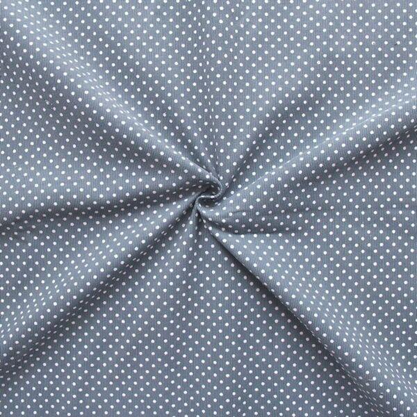 "Feincord Baumwollstoff ""Punkte Klein"" Farbe Grau"
