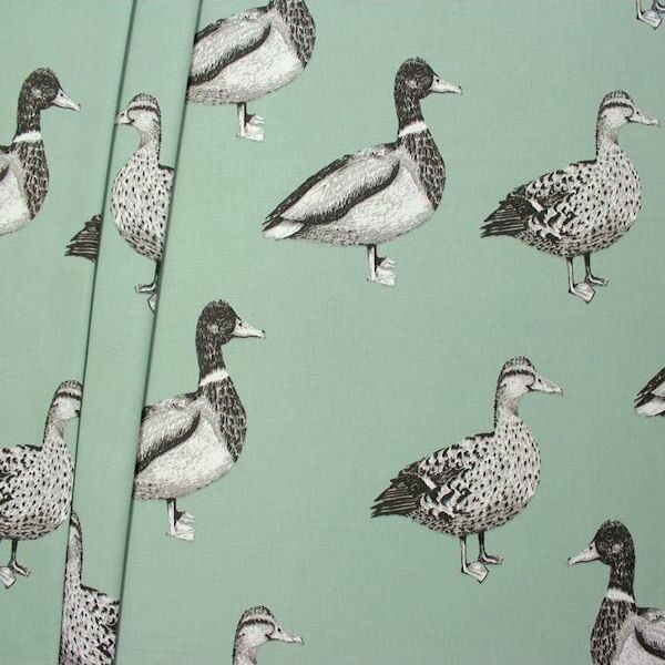 Dekostoff Halbpanama Duck Blau-Grau