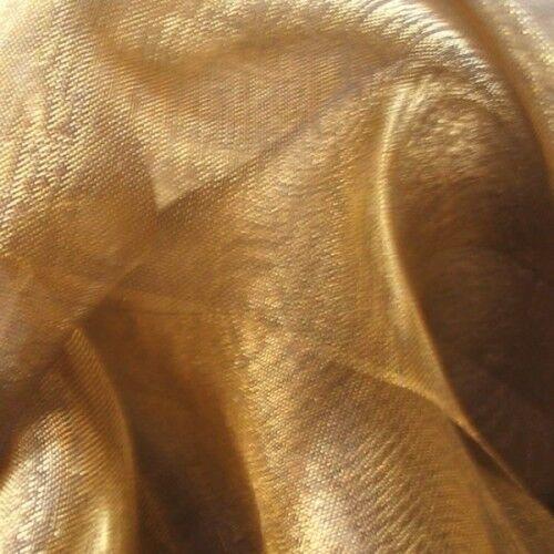 Organza Two Tone Farbe Gold-Braun