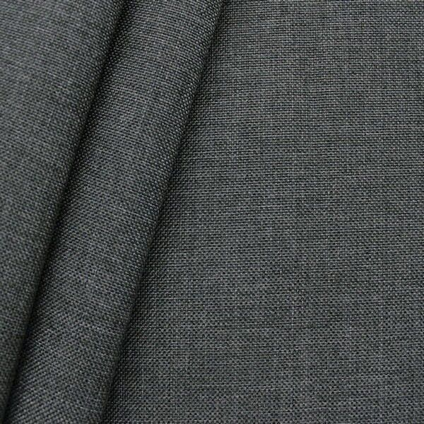 Polster- Möbelstoff Dunkel-Grau meliert
