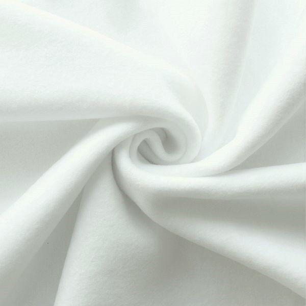 Baumwolle Fleece Season Classic Weiss