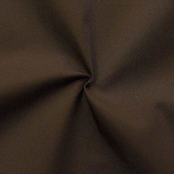 Polyester-Baumwoll Köper Basic Workwear Dunkel-Braun