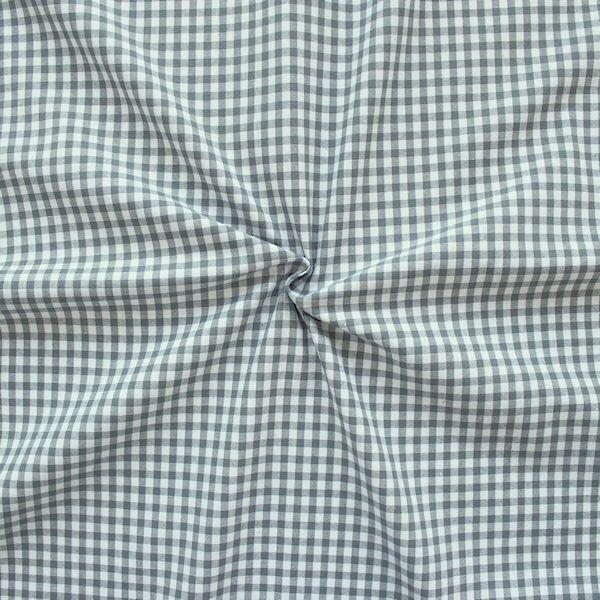 "100% Baumwollstoff ""Karos mittel"" Farbe Grau-Weiss"