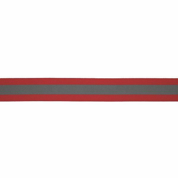 Reflektorband 25mm Rot