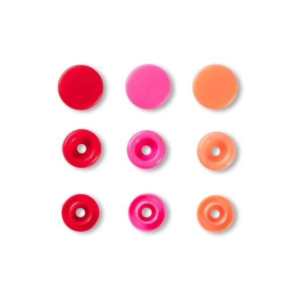 Prym Love Druckknopf Color, Color Snaps Kunststoff 30 Stück Ø 12,4mm rot