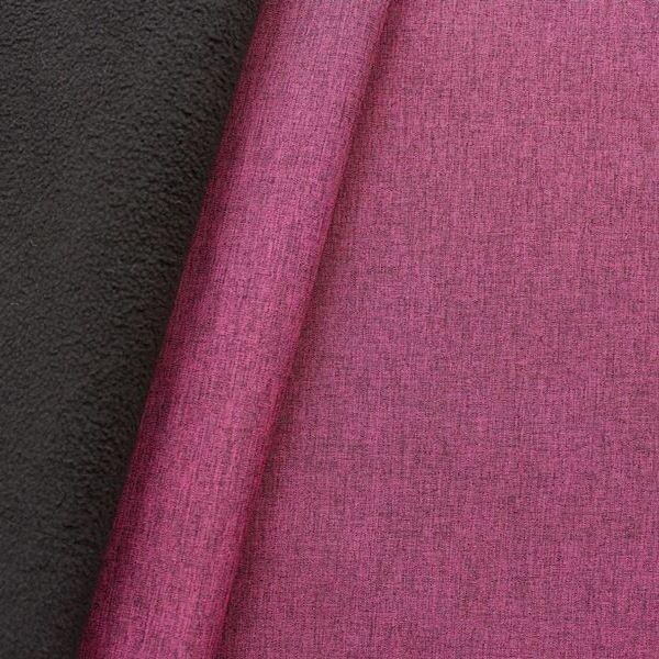 Softshell Fleece Stoff Melange Violett