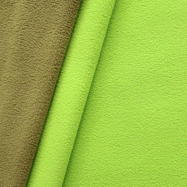 Doubleface Fleece antipilling Farbe Lind-Grün Oliv