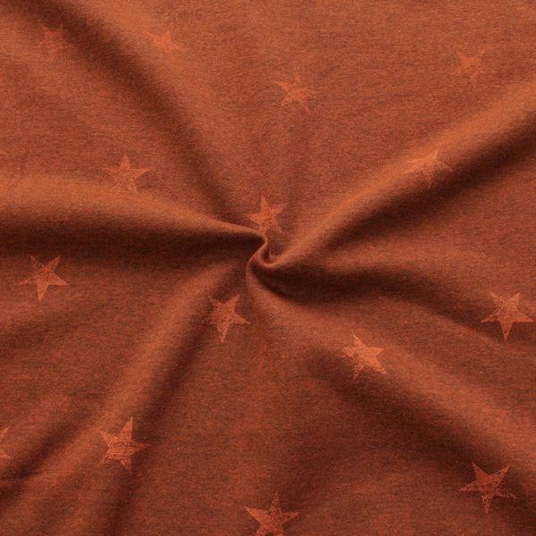 Sweatshirtstoff Sterne Used Look Orange meliert