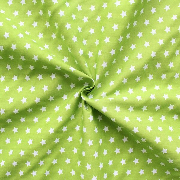 Sternchenstoff in Grün