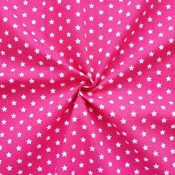 """100% Baumwollstoff """"Sterne Mittel"""" Farbe Pink"""