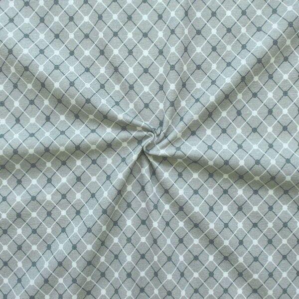 "Baumwoll Stretch Jersey ""Diamonds & Dots"" Farbe Grau"