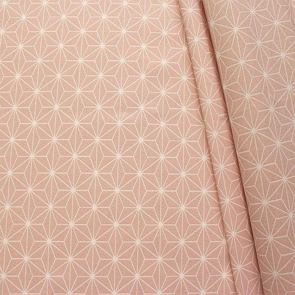 Baumwolle beschichtet Skandinivischer Stern Rose