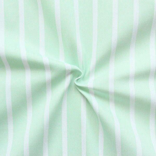 "100% Baumwolle Köper ""Fashion Stripes"" Farbe Pistazie"