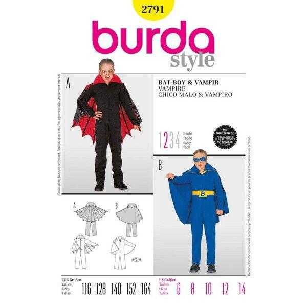 Burda 2791 Schnittmuster für Vampirkostüm und Batboykostüm