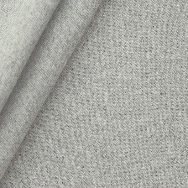 "Baumwoll Bündchenstoff ""glatt"" Farbe Hell-Grau meliert"