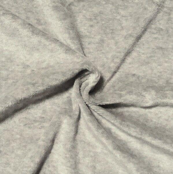 Nicki Baumwollstoff Farbe Hell-Grau meliert