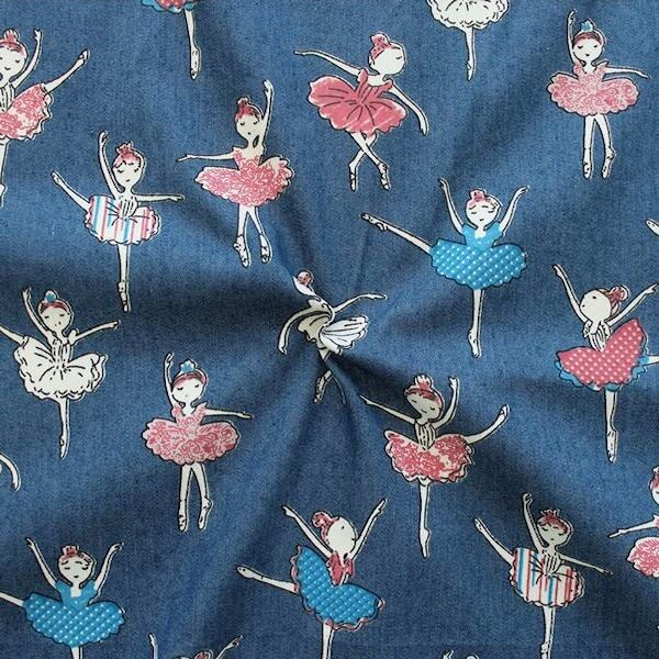 """Stretch Denim Jeans Stoff """"Prima Ballerina"""" Farbe Jeans-Blau"""