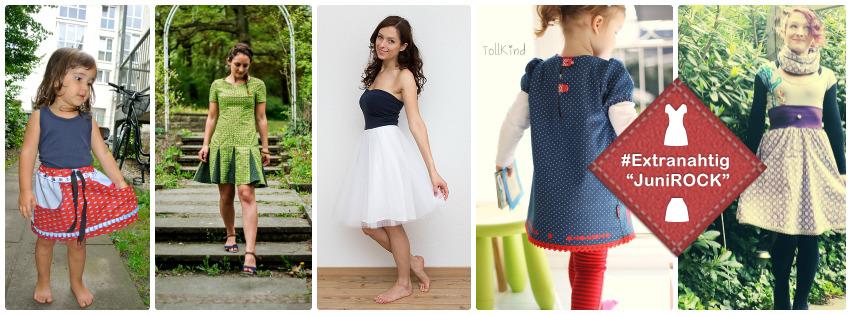 Extranahtig Motto im Juni: Röcke und Kleider nähen