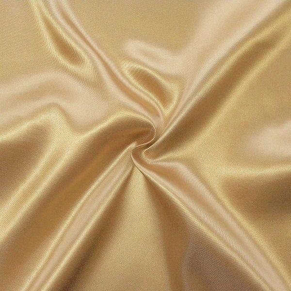 Satin Stoff Farbe Perl-Beige