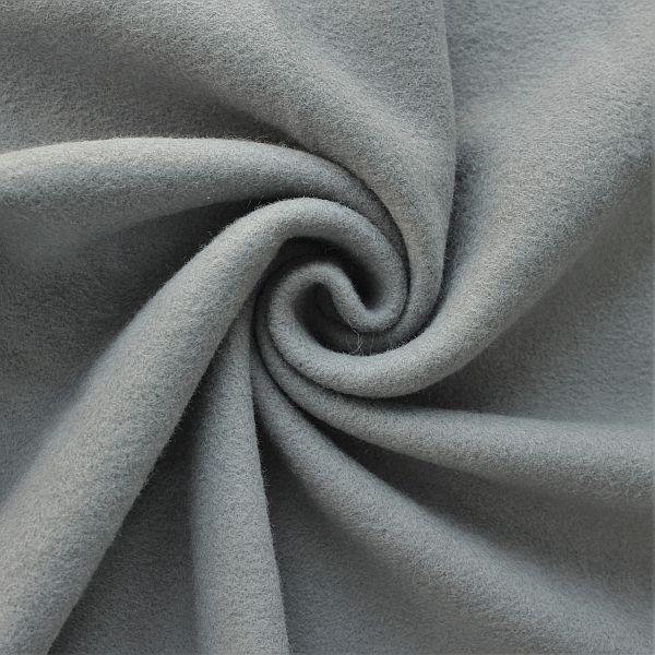 Baumwolle Fleece Season Classic Dunkel-Grau