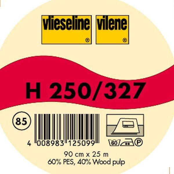 Vlieseline Bügeleinlage Standard stabile Fixiereinlage Typ H 250 / 327 Farbe Graphit