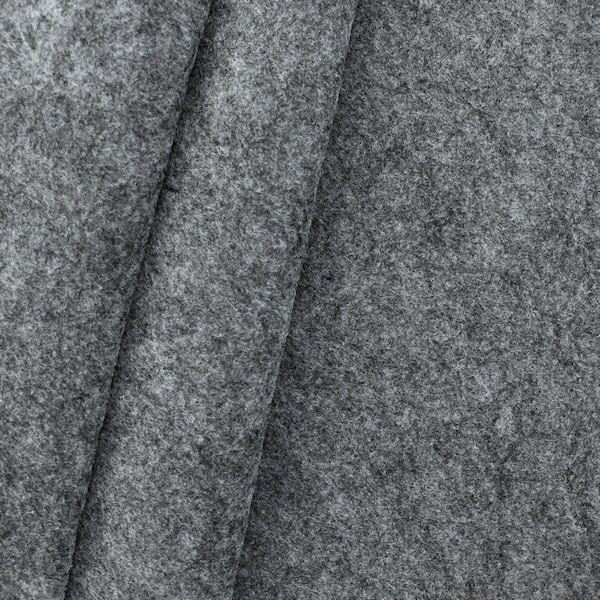 Bastel Filz Stärke 3,0 mm Breite 90 cm Mittel-Grau meliert