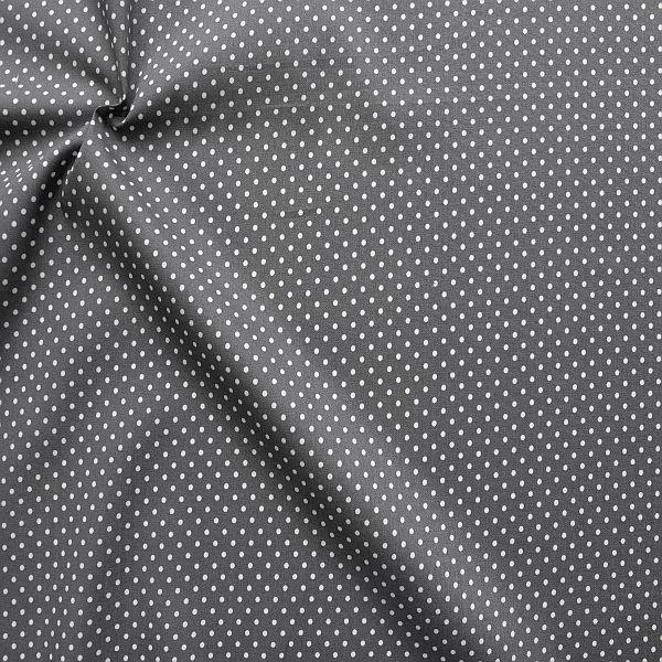 Baumwollstoff Tupfen Klein Mittel-Grau