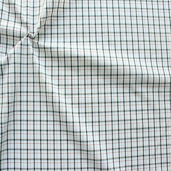 Baumwollstoff Hemden Qualität Karo fein Weiss Grau Braun