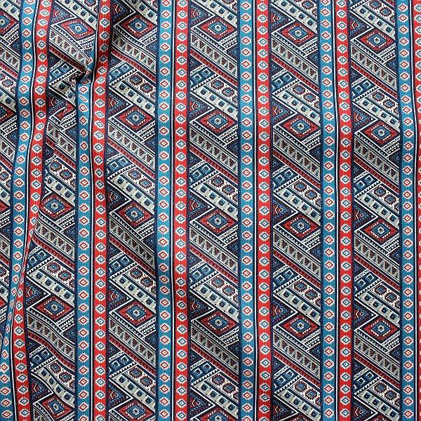 Baumwollstoff Inka Style Blau-Multicolor