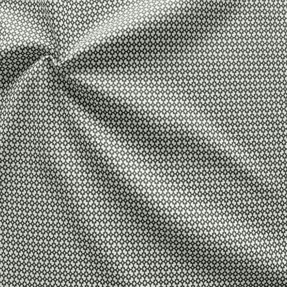 Baumwollstoff Modern Blossom Schwarz-Weiss