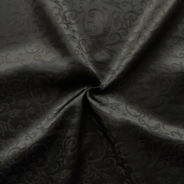 Futterstoff Jacquard Muster Schwarz