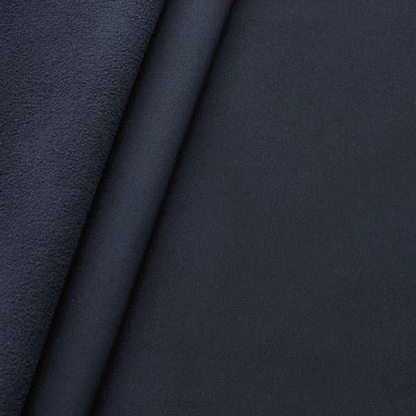 Softshell Fleece Stoff Navy-Blau