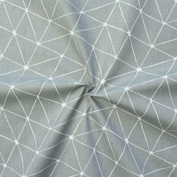 """100% Baumwollstoff """"Origami"""" Farbe Grau"""