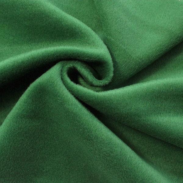 Mantelflausch Wool Look Dunkel-Grün