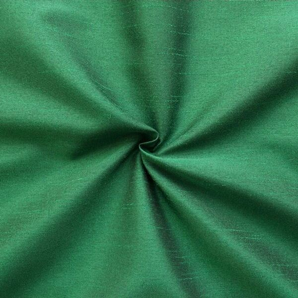 Kleider / Deko Taft Dupionseide Optik Farbe Dunkel-Grün